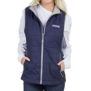 Lauren James Ellison Nano Vest Navy Gingham Vest M